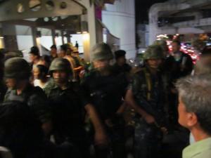 2014年軍事クーデター翌日、バンコク都内某所で撮影。